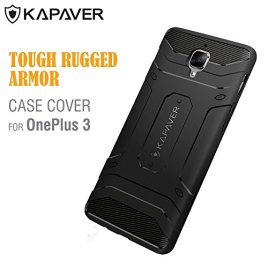 OnePlus-3-Case-KAPAVER-Tough-Rugged-Case-Cover-Solid-Black-Shock-Proof-Bumper-Case-One-Plus-3