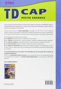 Livres Couvertures de TD CAP Petite enfance Sciences médico-sociales, technologies et techniques professionnelles