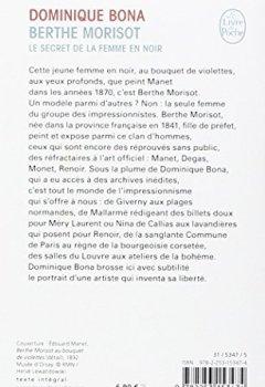 Livres Couvertures de Berthe Morisot : Le Secret de la femme en noir