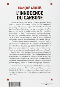 Livres Couvertures de L'innocence du carbone - L'effet de serre remis en question