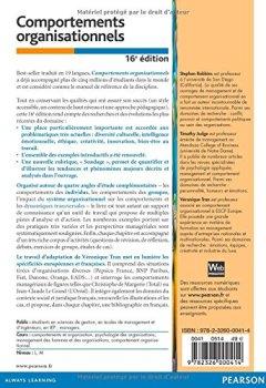 Livres Couvertures de Comportements organisationnels 16e édition