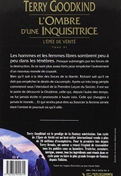 Livres Couvertures de L'Épée de vérité, tome 11 : L'ombre d'une inquisitrice