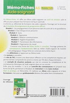 Livres Couvertures de Mémo-Fiches AS - Modules 1 à 8: Aide-soignant