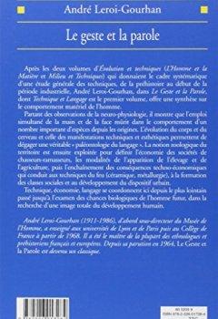 Livres Couvertures de Le Geste et la Parole, tome 1 : Technique et Langage
