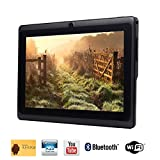 Tagital® 7'' Quad Core Android 4.4 KitKat Tablet PC, HD Screen 1024x600, 8GB, Bluetooth, Dual Camera, Netflix, Skype, 3D Game Supported (Black)