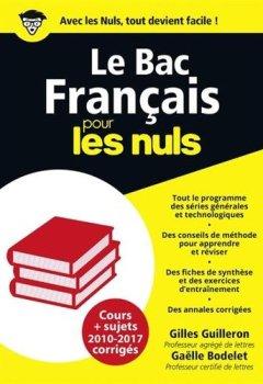 Livres Couvertures de Bac Français 2018 Pour les Nuls
