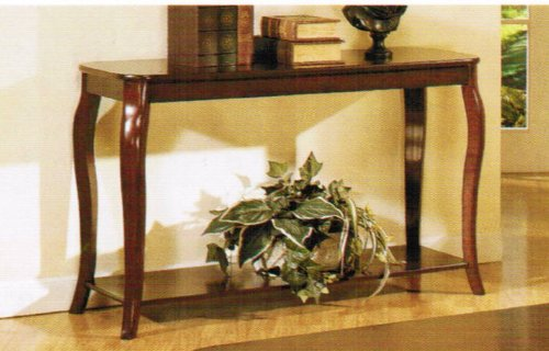 Image of Console Sofa Table with Storage Shelf - Cherry Finish (VF_F6152)