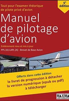 Livres Couvertures de Manuel de pilotage d'avion 5e édition Revue et mise à jour