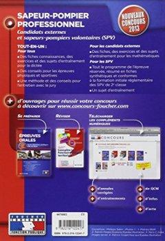 Livres Couvertures de Sapeur-pompier professionnel Nouveaux concours 2013