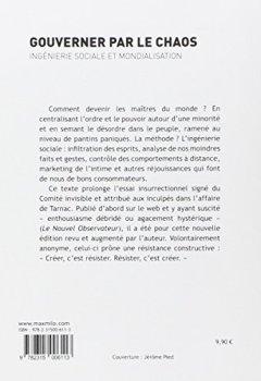 Livres Couvertures de Gouverner par le chaos - Ingénierie sociale et mondialisation