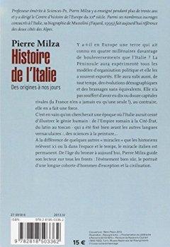 Livres Couvertures de Histoire de l'Italie: Des origines à nos jours