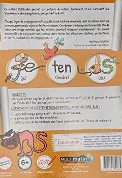 Livres Couvertures de Coffret Multimalin conjugaison du présent (contient 1 livret, 1 DVD et 1 jeu de cartes)