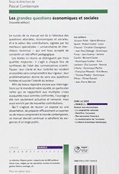 Livres Couvertures de Les grandes questions économiques et sociales