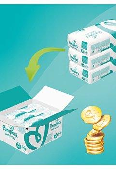 Livres Couvertures de Pampers - Baby Dry - Couches Taille 3 (5-9 kg/Midi) - Pack Economique 1 Mois de Consommation (x198 couches)