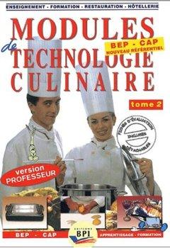 Livres Couvertures de Modules de technologie culinaire BEP/CAP, tome 2 (Livre du professeur)