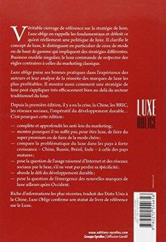 Livres Couvertures de Luxe oblige