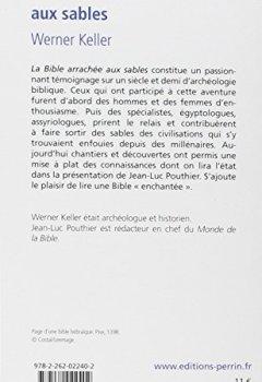 Livres Couvertures de La Bible arrachée aux sables