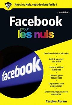 Livres Couvertures de Facebook 5e édition poche pour les Nuls