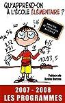 Qu'apprend-on à l'école élémentaire ?