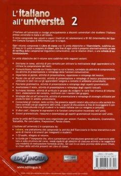 Livres Couvertures de L'Italiano All'Università 2 : Corso di lingua per studenti stranieri B1-B2 (1CD audio)