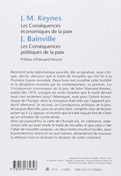 Livres Couvertures de Les Conséquences économiques de la paix, suivi de : Les Conséquences politiques de la paix