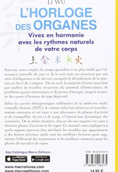 Livres Couvertures de L'horloge des organes : Tirée de la médecine traditionnelle chinoise