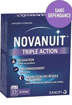 Livres Couvertures de Novanuit Sommeil 30 Gélules - 3 MOIS de TRAITEMENT - Lot de 6 Boites