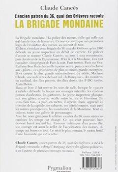 Livres Couvertures de L'ancien patron du 36 quai des Orfèvres raconte la brigade mondaine : Sexe, pouvoir, argent...