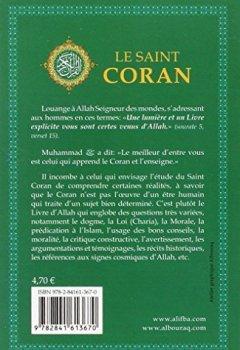 Livres Couvertures de Coran Français Broché 11-17