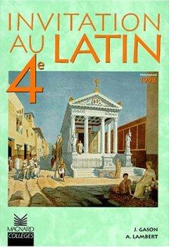 Livres Couvertures de Invitation au latin 4e