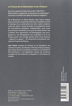 Livres Couvertures de La France de la Révolution et de l'Empire
