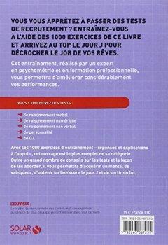 Livres Couvertures de 1000 tests psychotechniques de logique et d'intelligence