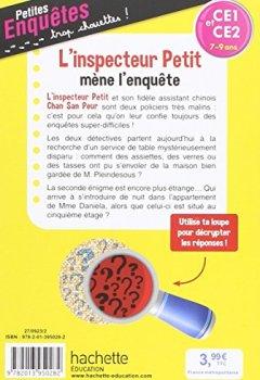 Livres Couvertures de L'inspecteur Petit mène l'enquête - CE1 et CE2 - Cahier de vacances