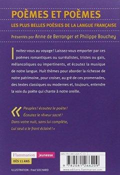 Livres Couvertures de Poèmes et poèmes : Les plus belles poésies de la langue française
