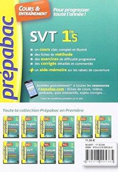 Livres Couvertures de SVT 1re S - Prépabac Cours & entraînement: cours, méthodes et exercices progressifs (première S)