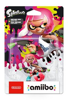 Livres Couvertures de Amiibo 'Collection Splatoon' - Fille Inkling rose néon