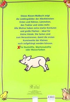Cover von Mein erstes Riesenmalbuch: Tiere auf dem Bauernhof (Edition Bücherbär)