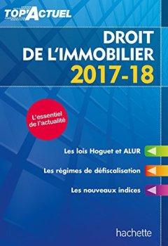 Livres Couvertures de Top'Actuel Droit De L'Immobilier 2017-2018