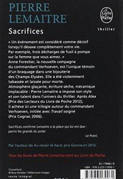Livres Couvertures de Sacrifices