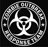 Zombie Outbreak Response Team White Die-cut Vinyl Decal Sticker