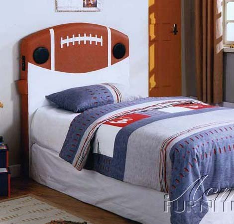 Image of Kid Youth Twin Size Headboard with Speakers in Football Design (VF_AM0970T)