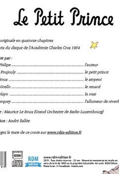 Livres Couvertures de Le petit prince - de Antoine de Saint-Exupéry - Raconté par Gérard Philipe
