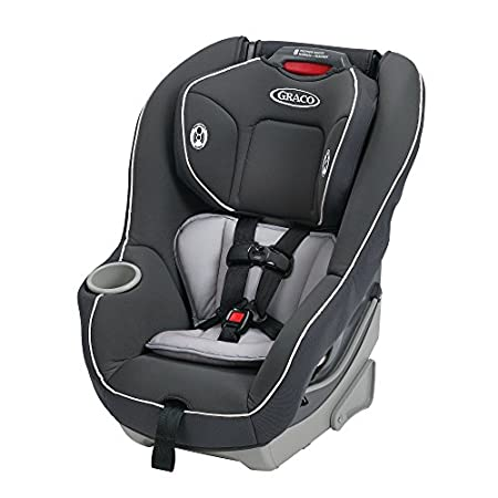 Graco's Contender 65 Convertible Car Seat, in Glacier, holds a rear-facing infant from 5 - 40 pounds. and a forward-facing toddler in its 5-point harness from 20 - 65 pounds. It easily grows with your child with the Simply Safe Adjust harness system,...