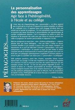Livres Couvertures de La personnalisation des apprentissages : Agir face à l'hétérogénéité, à l'école et au collège