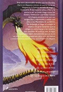 Buchdeckel von Harry Potter y el cáliz de fuego