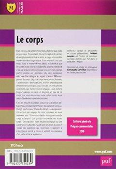 Livres Couvertures de Le corps. Leçon philosophique. Prépas commerciales 2018