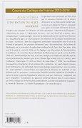 Livres Couvertures de L'invention du sujet moderne. Cours du Collège de France 2013-2014