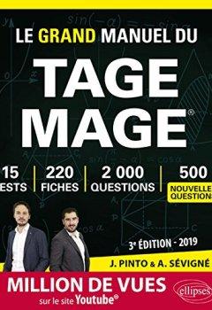 Livres Couvertures de Le Grand Manuel du TAGE MAGE® - 220 fiches, 15 tests, 2000 questions + corrigés en vidéo - 3e édition 2019