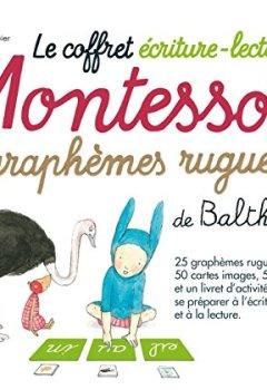 Livres Couvertures de Le coffret écriture-lecture Montessori des graphèmes rugueux de Balthazar