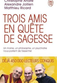 Livres Couvertures de Trois amis en quête de sagesse : Un moine, un philosophe, un psychiatre nous parlent de l'essentiel